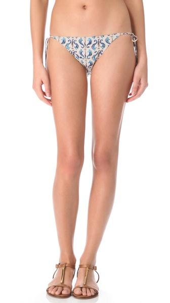 Tory Burch Tamarin String Bikini Bottoms