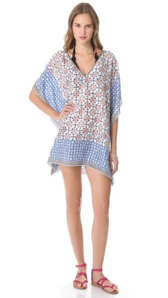 Tory Burch Eden Short Caftan Cover Up