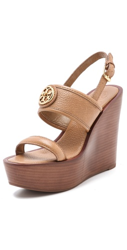Shop Tory Burch Selma Wedge Sandals - Tory Burch online - Footwear,Womens,Footwear,Sandals, at Lilychic Australian Clothes Online Store