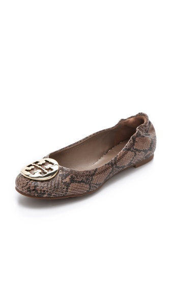 Tory Burch Reva Snake Print Flats