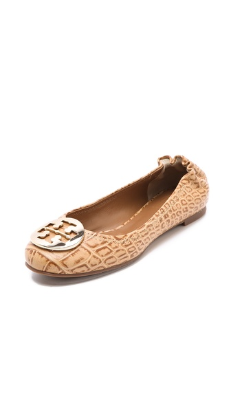 Tory Burch Reva Croc Ballet Flats