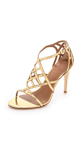 Tory Burch Amalie Metallic Sandals