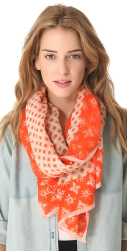 Shop Tory Burch Layton Mix Scarf and Tory Burch online - Accessories,Womens,Fashion_Accessories,Scarves, online Store