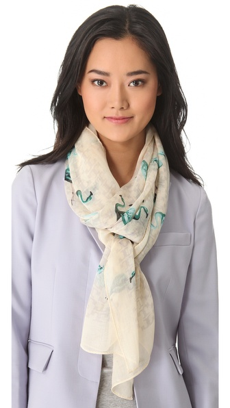 Tory Burch Flamingo Scarf