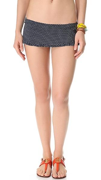 Tory Burch Montecito Ruffle Skirt Bikini Bottoms