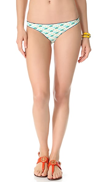 Tory Burch Flamingo Sanibel Bikini Bottoms