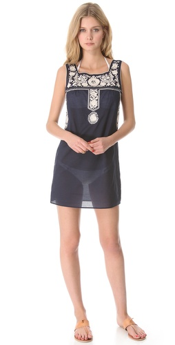 Shop Tory Burch Amira Cover Up Dress online and buy Tory Burch latest season - Apparel, Womens, Swim, Coverups,  online shop