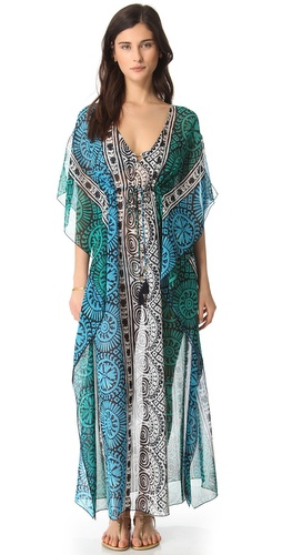 Shop Tory Burch Tofino Long Caftan Cover Up online and buy Tory Burch latest season - Apparel, Womens, Swim, Coverups,  online shop
