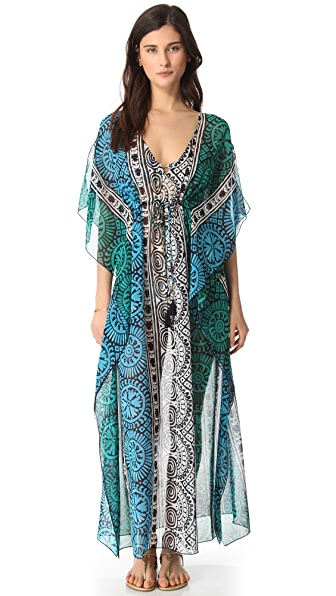 Tory Burch Tofino Long Caftan Cover Up