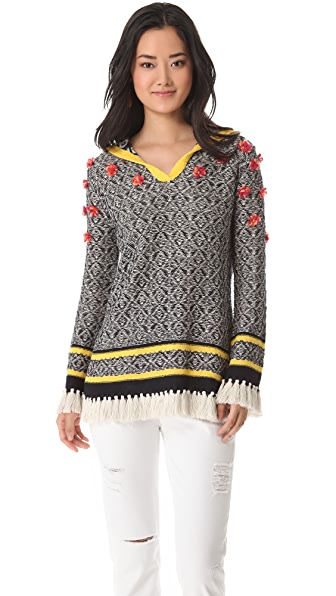 Tory Burch Gatlin Poncho Sweater