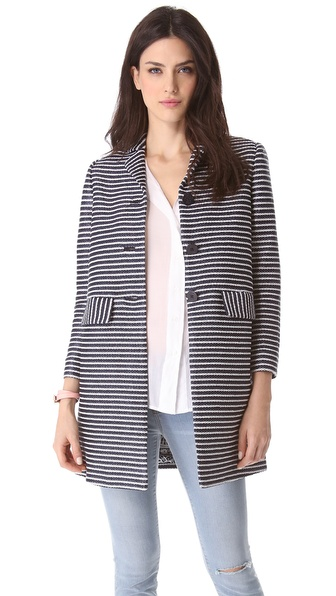 Tory Burch Elaina Raffia Coat