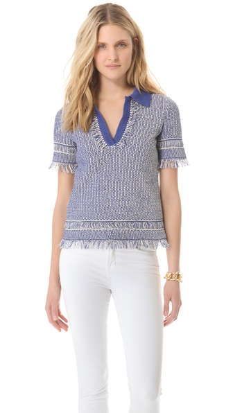 Tory Burch Brielle Sweater Polo Shirt