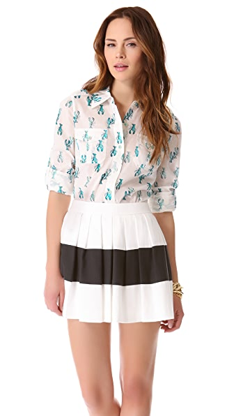 Tory Burch Lobster Brigette Blouse