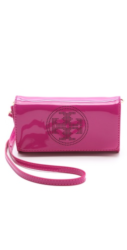 Tory Burch Perforated Logo Clutch at Shopbop / East Dane