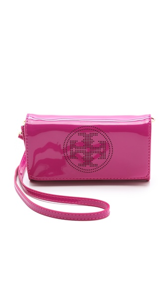 Tory Burch Perforated Logo Clutch