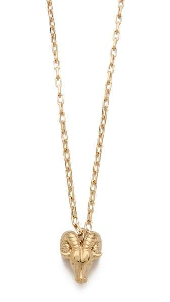 Tory Burch Ram Head Pendant Necklace