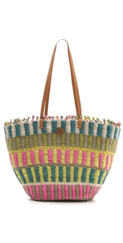 Tory Burch Multi Straw Tote
