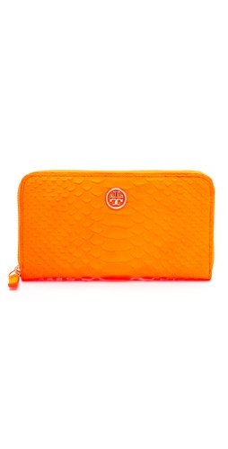 Tory Burch Neon Snake Zip Continental Wallet at Shopbop.com