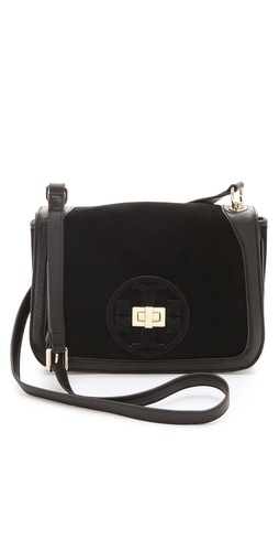 Tory Burch Gloria Suede Cross Body Bag