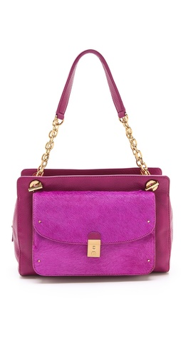 Tory Burch Priscilla Haircalf Shoulder Bag at Shopbop / East Dane