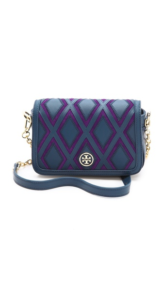 Tory Burch Robinson Patchwork Mini Chain Bag