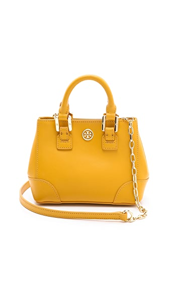Tory Burch Robinson Shrunken Square Tote
