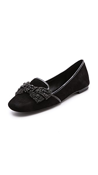 Tory Burch Carissa Bow Smoking Slippers