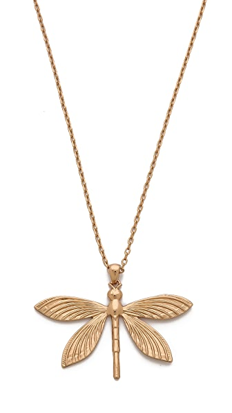 Tory burch dragonfly simple necklace shopbop for Tory burch jewelry amazon
