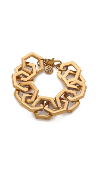 Tory Burch Hexagon Link Bracelet