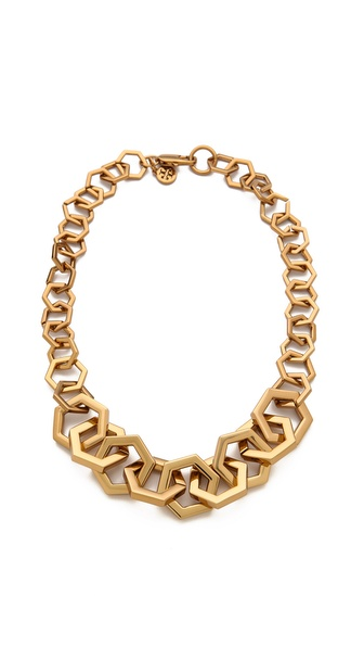 Tory Burch Hexagon Link Necklace
