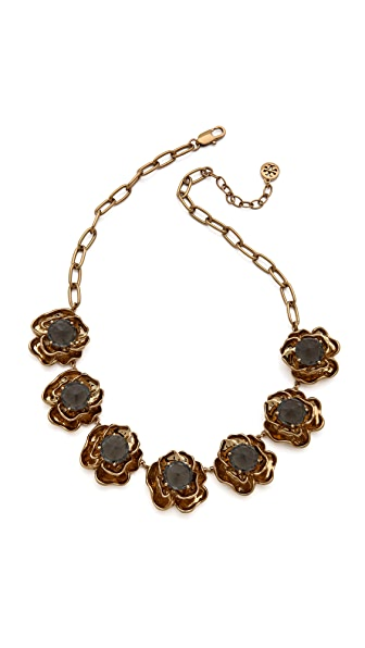 Tory Burch Crystal Rose High Necklace