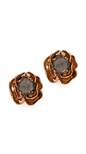 Tory Burch Crystal Rose Stud Earrings