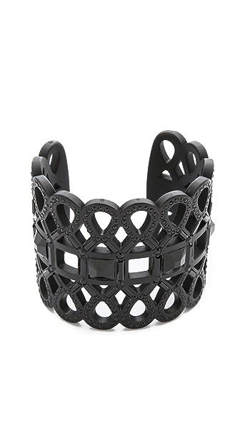 Tory Burch Embellished Lace Cuff Bracelet