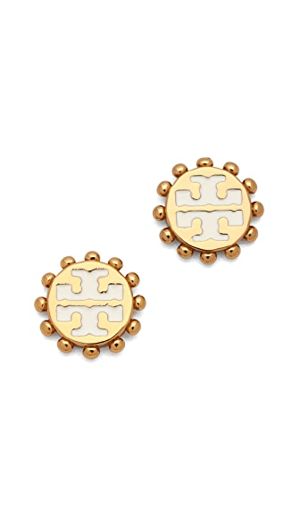 Tory Burch Winslow Logo Post Earrings