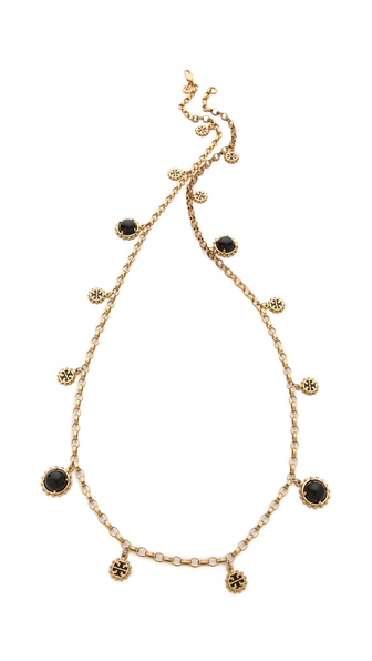 Tory Burch Winslow Logo Rosary Necklace