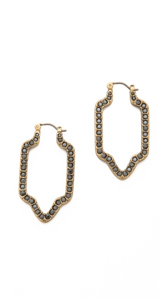 Tory Burch Grady Pave Earrings