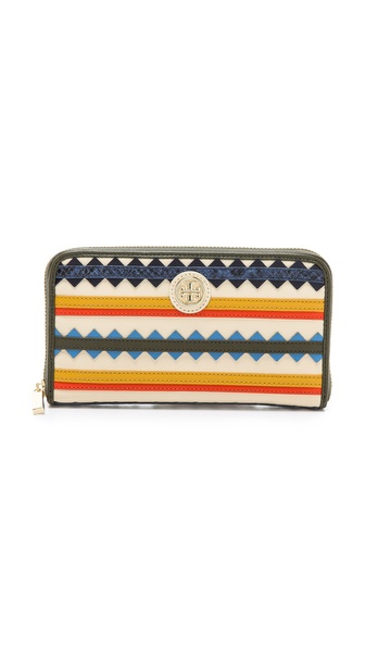 Tory Burch Robinson Zigzag Continental Wallet