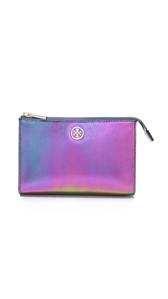 Tory Burch Robinson Iridescent Cosmetic Pouch