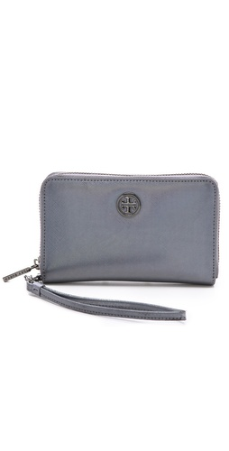Tory Burch Robinson Metallic Smartphone Wristlet at Shopbop / East Dane