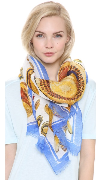 Tory Burch Engineered Hat Scarf