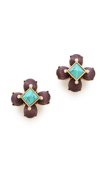 Tory Burch Luca Clip On Stud Earrings