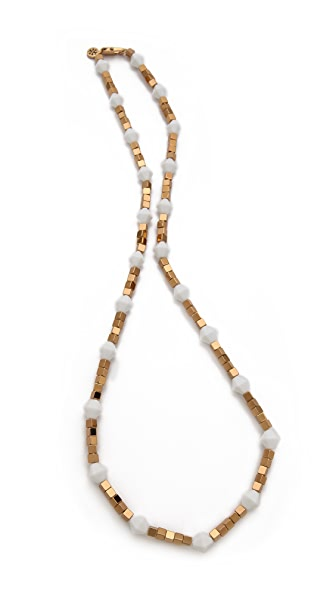 Tory Burch Single Strand Cube Necklace