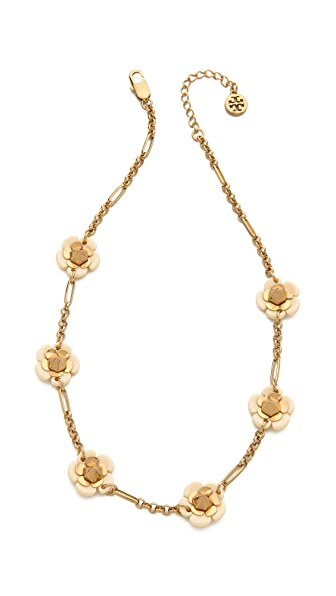 Tory Burch Flower Spike Short Necklace