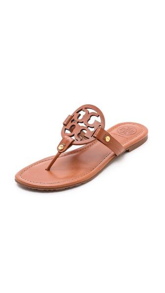 Tory Burch Miller Logo Sandals - Vintage Vachetta
