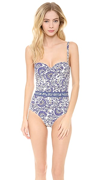 Tory Burch Madura One Piece Swimsuit