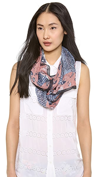 Tory Burch Sparrow Mix Print Scarf