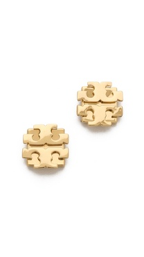 Tory Burch Large T Logo Stud Earrings