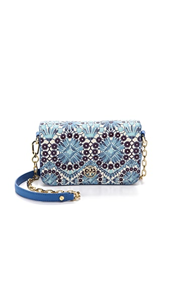 Tory Burch Robinson Printed Adjustable Chain Mini Bag