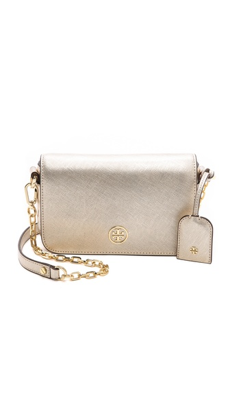 Tory Burch Robinson Metallic Adjustable Chain Mini Bag
