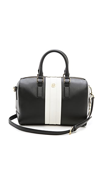 Tory Burch Robinson Striped Midi Satchel